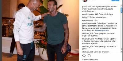Insultos a Zidane en Instagram
