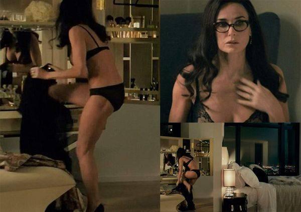 Demi Moore luce sensual figura durante grabaciones de su nuevo filme