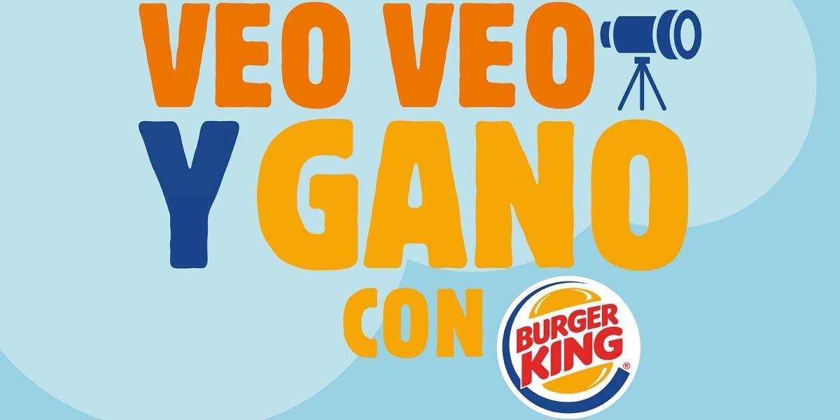 VEO VEO Y GANO CON BURGER KING