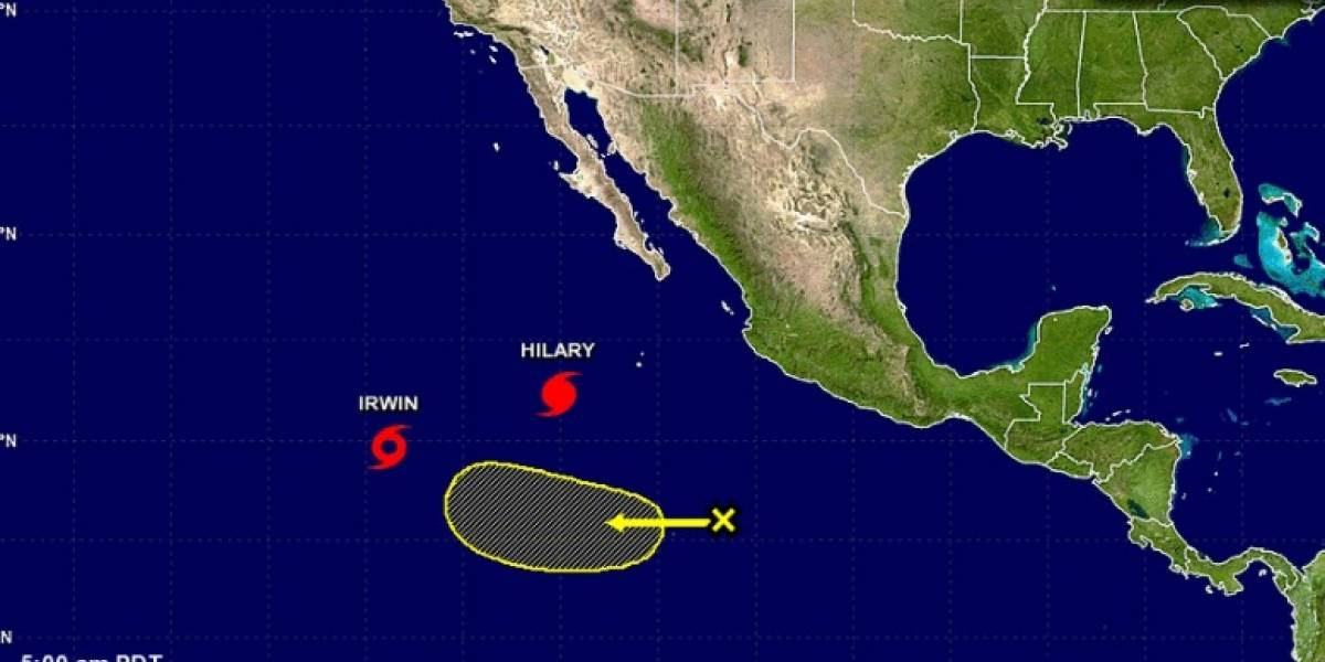 Hilary pierde fuerza frente a costa de México