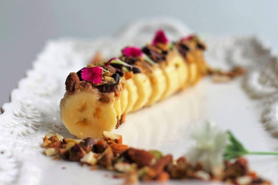 Rollitos poderosos de guineo y mantequilla de maní