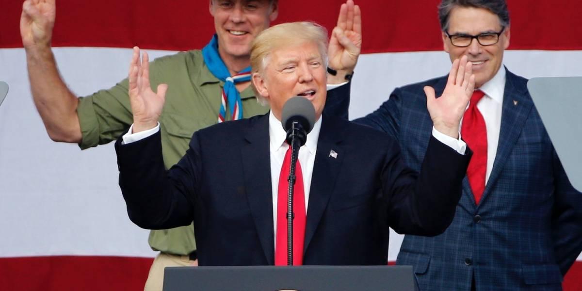 Líder de los Boy Scouts se disculpa por discurso de Trump