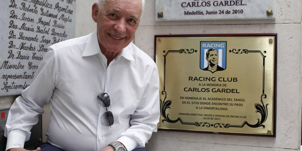 Racing de Argentina homenajea a Gardel en aeropuerto de Medellín donde murió