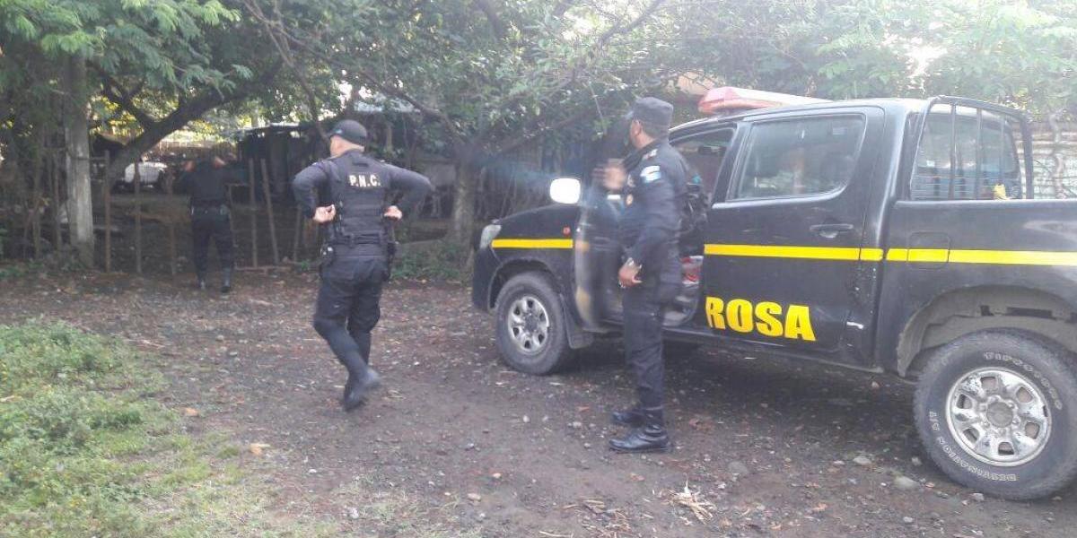 Durante operativo en Escuintla, PNC localiza piezas de motocicletas robadas