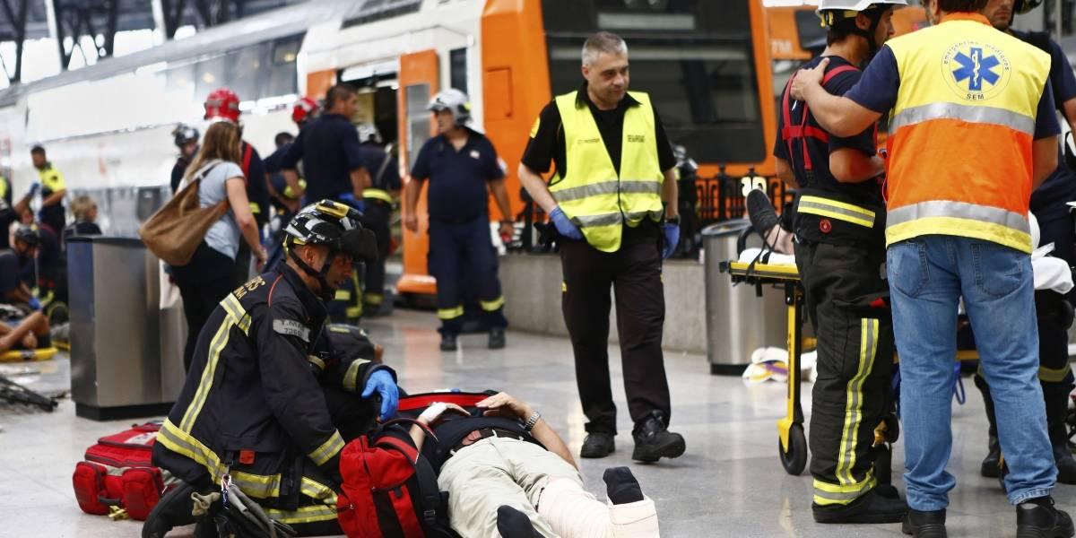 Al menos 50 heridos en un accidente de tren en Barcelona