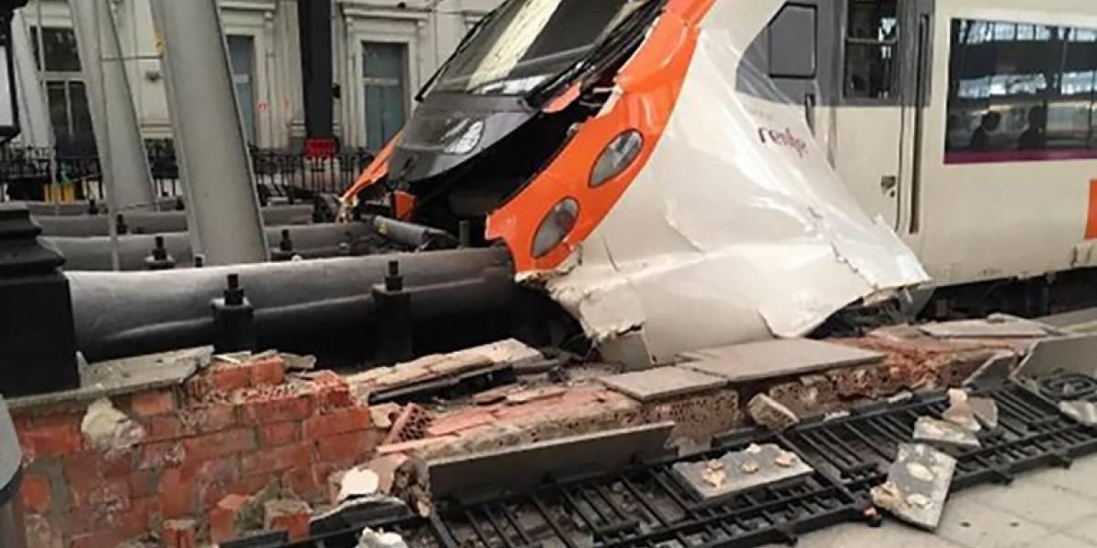 Accidente de tren en Barcelona deja medio centenar de heridos