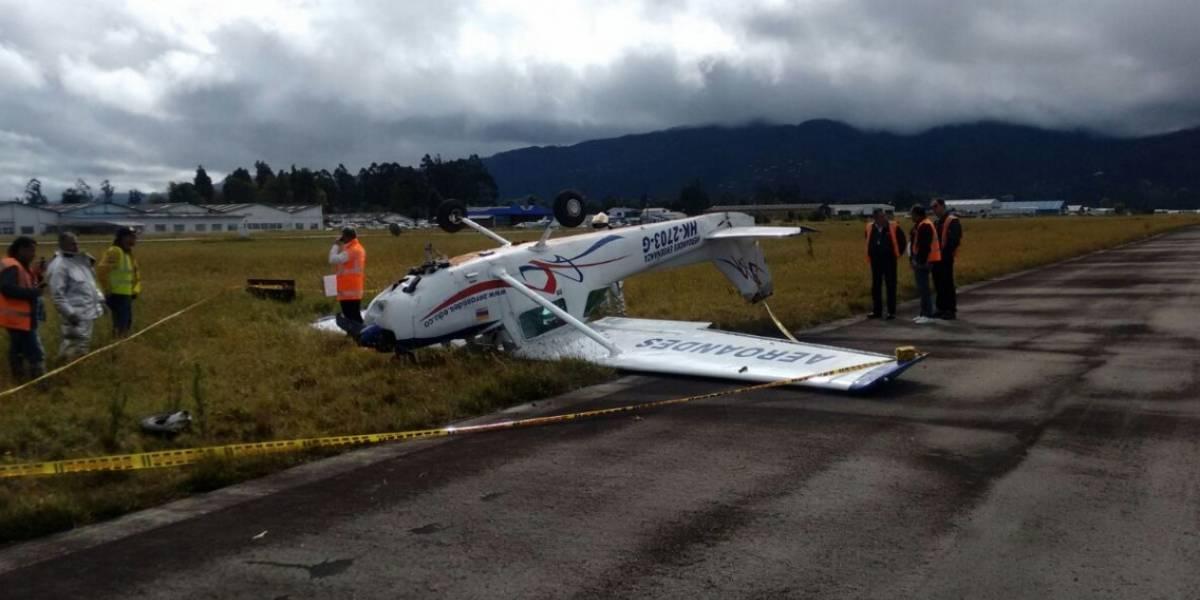 Aeronave se accidentó en el aeropuerto de Guaymaral