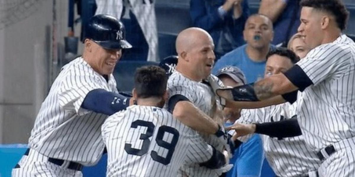 VIDEO: Beisbolista de los Yankees se rompe un diente en pleno partido