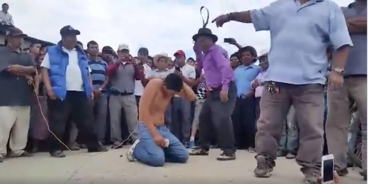 VIDEO. Así fue el castigo maya para el hermano de implicada en asesinato de dos niños