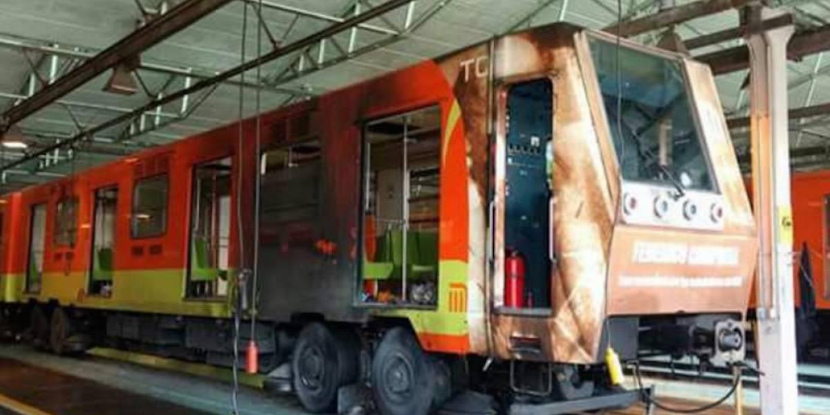 Así quedó el convoy del Metro que sufrió una falla eléctrica en la L1