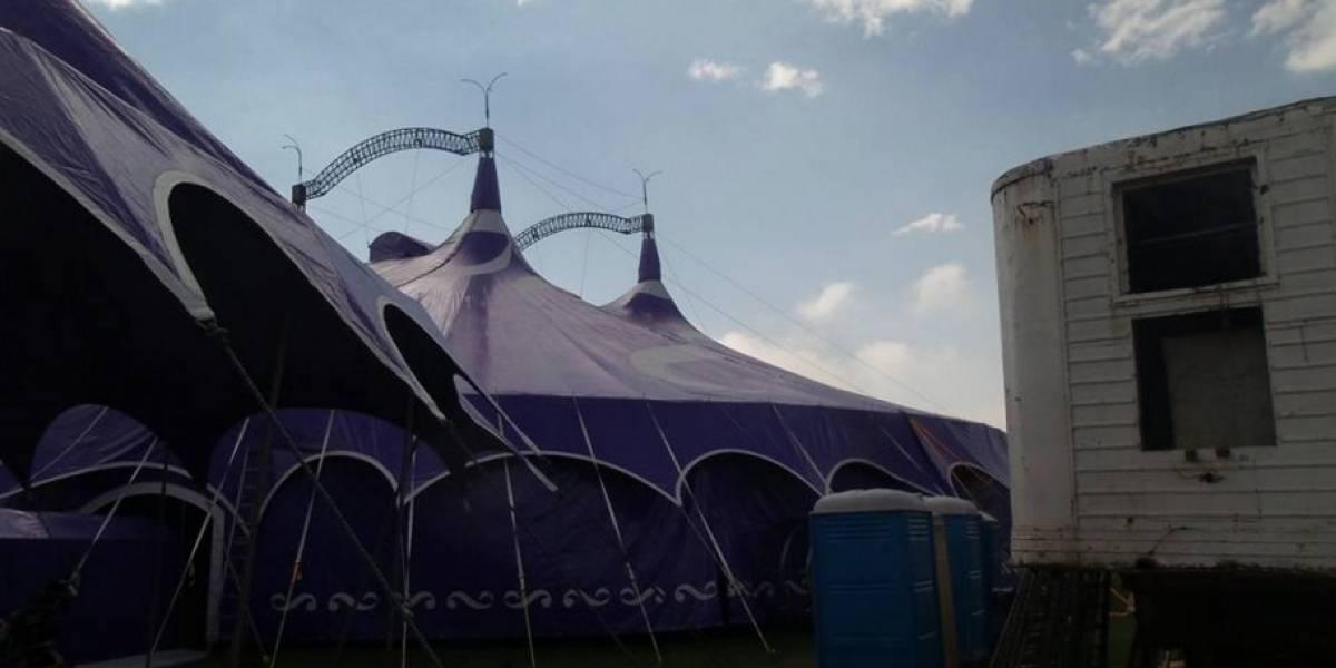 Se desploma carpa de circo en Caldas y en incidente deja 27 heridos