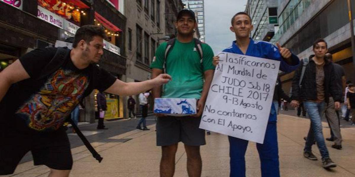 Judoca mexicano botea en las calles de la CDMX para ir al Mundial