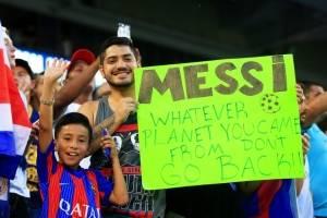 Un mensaje para Messi