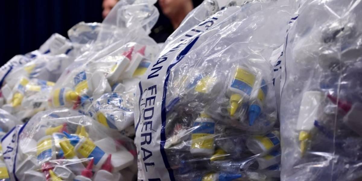 Aduanas descubre metanfetamina líquida en ampollas de uso veterinario