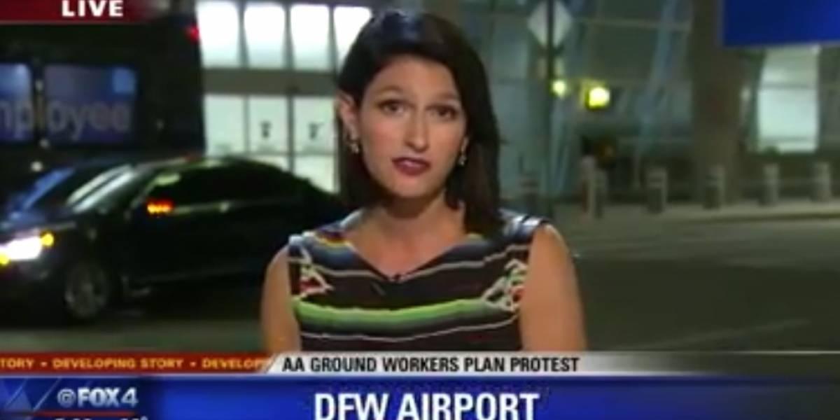 Periodista estaba en un despacho en vivo y una araña empezó a recorrer su brazo