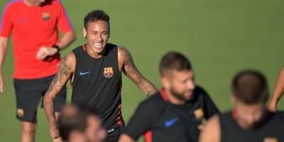 Neymar en la pretemporada