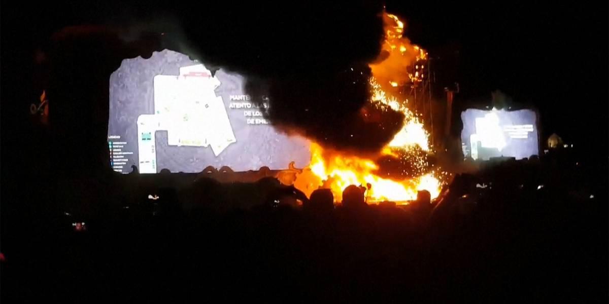 Impresionante incendio obligó a evacuar el Festival Tomorrowland