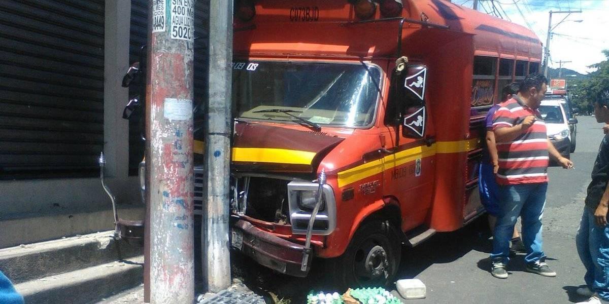 En el Día del chofer ocurre un accidente en Mixco