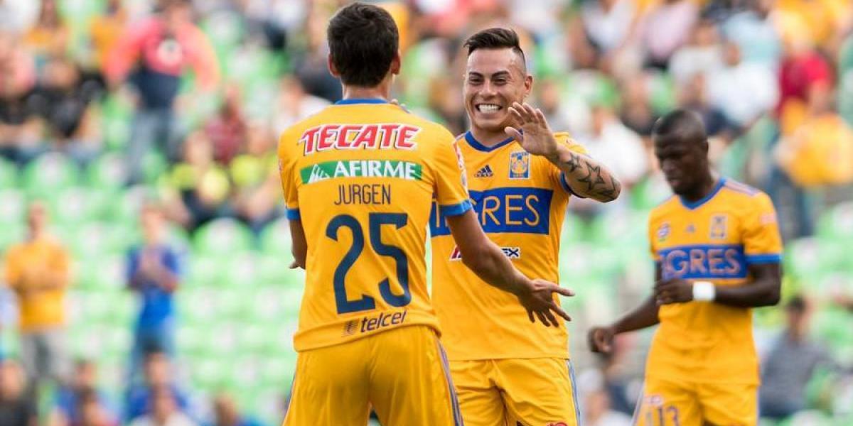 Eduardo Vargas sumó otro gol con Tigres y sigue con su buen inicio de temporada