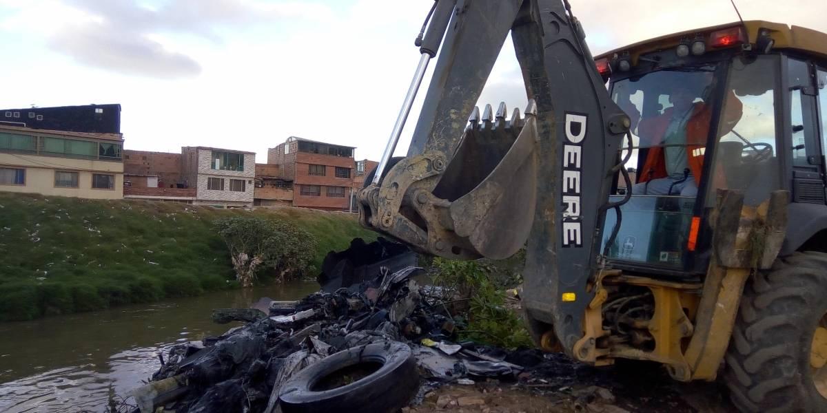 En el río Tunjuelo extrajeron 270 toneladas de basura y residuos