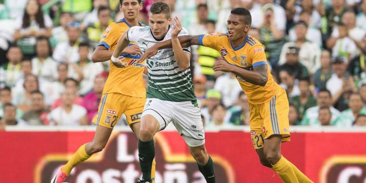 Santos contiene poderío de Tigres y rescata el empate