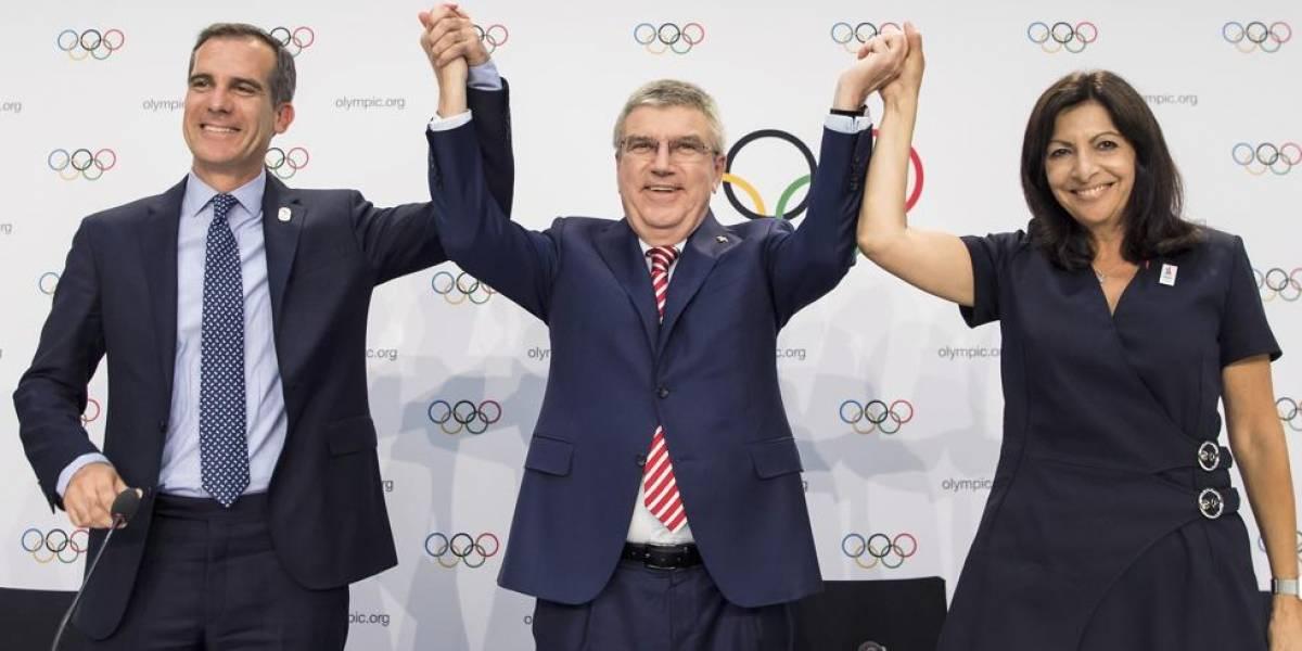 París y Los Ángeles serán sedes de los Juegos Olímpicos de 2024 y 2028
