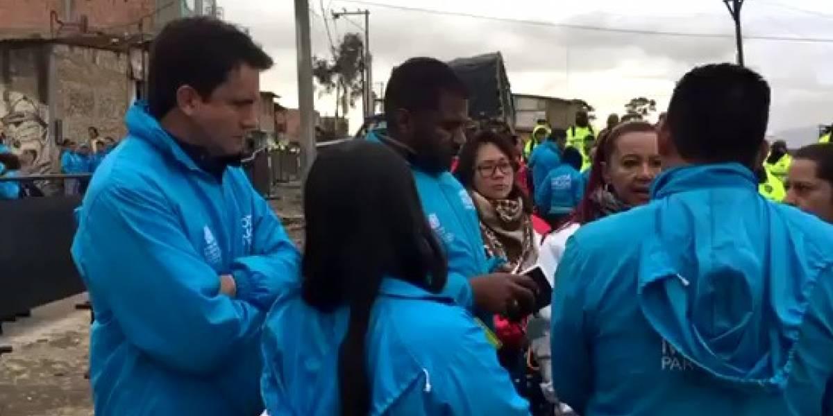 Desalojo al sur de Bogotá con presencia aproximada de 500 policías