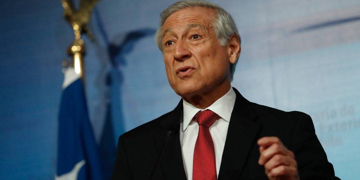 """Canciller de Chile se muestra """"moderadamente optimista"""" con diálogo en crisis venezolana"""