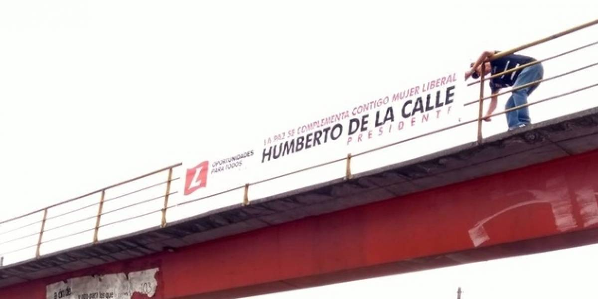 Desmontaron vallas publicitarias de Humberto de la Calle — COLOMBIA