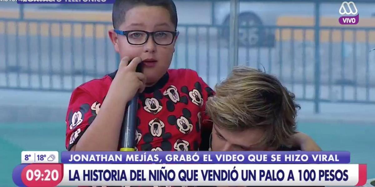 """Mario la hizo de nuevo: el emotivo paso del niño fenómeno de Facebook en """"Mucho Gusto"""""""