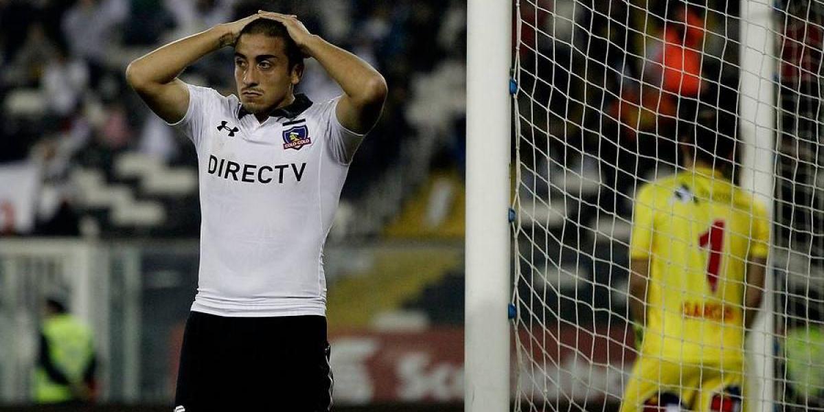 El nervioso debut profesional de Luis Salas en Colo Colo: Constantes retos y se perdió un gol