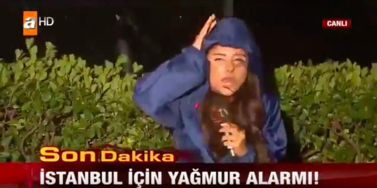 Reportera continúa en vivo bajo fuerte lluvia de granizo