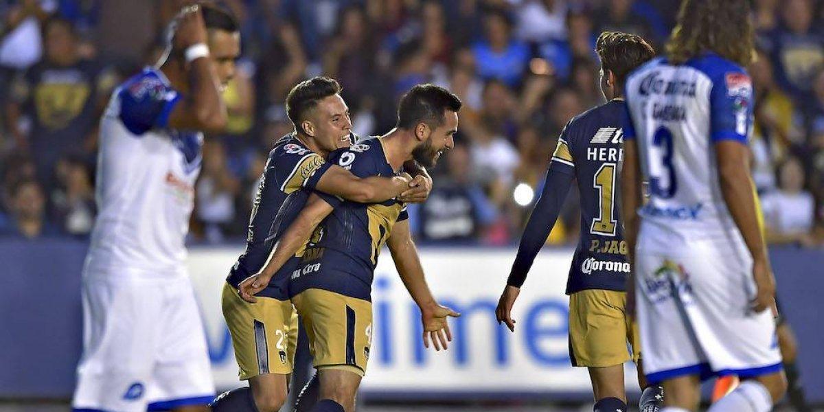 Pumas rescata empate ante Celaya con golazo de chilena