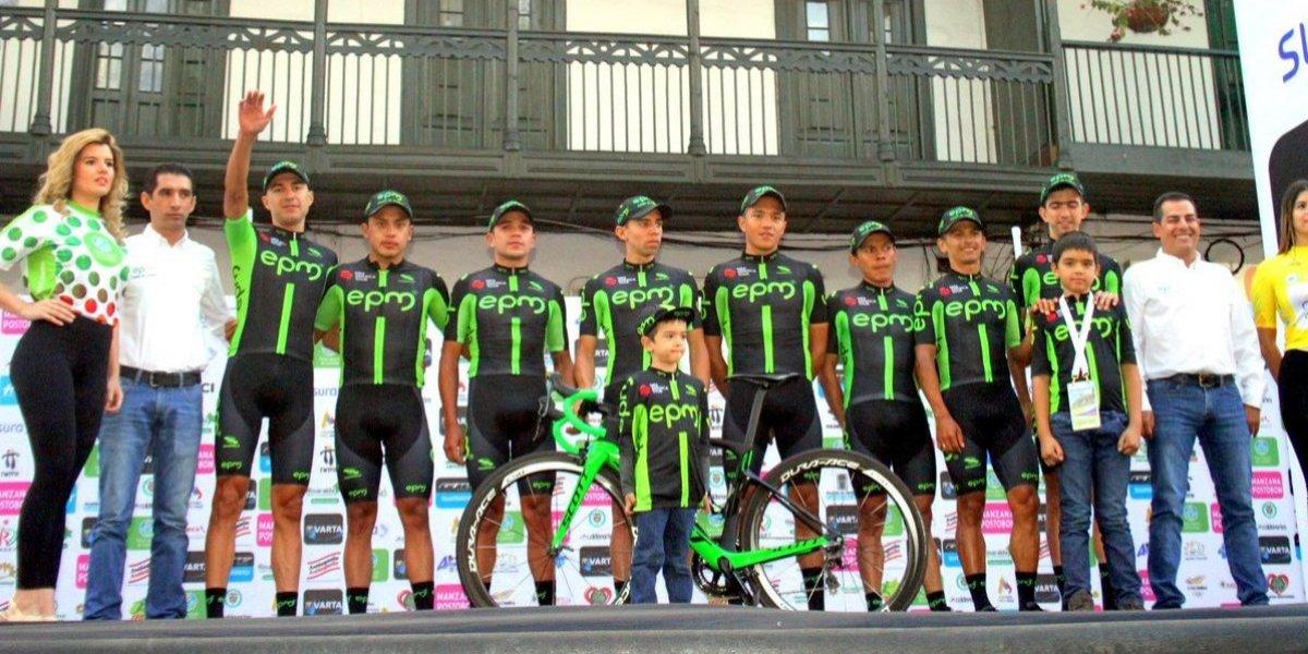 EPM pegó primero en la Vuelta a Colombia y se quedó con la contrarreloj por equipos