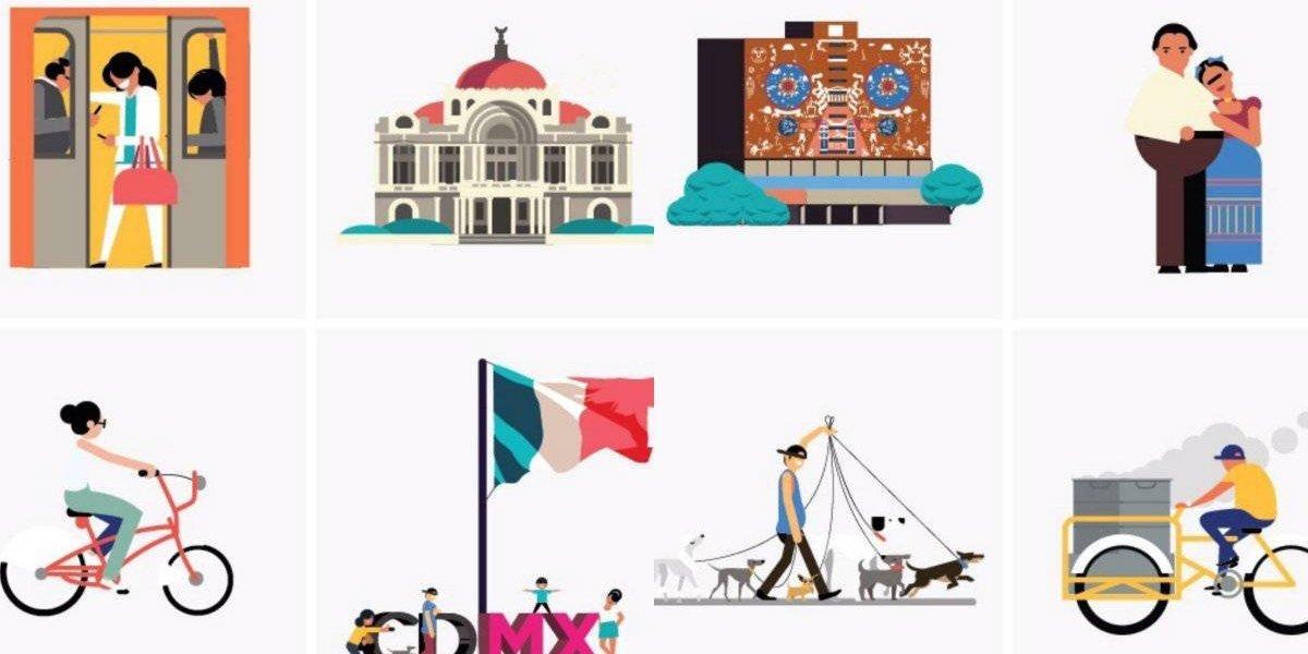 Crean 240 emojis sobre la Ciudad de México