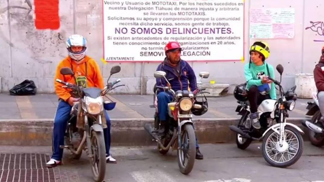 Implementan operativo contra mototaxis en la Venustiano Carranza, CDMX