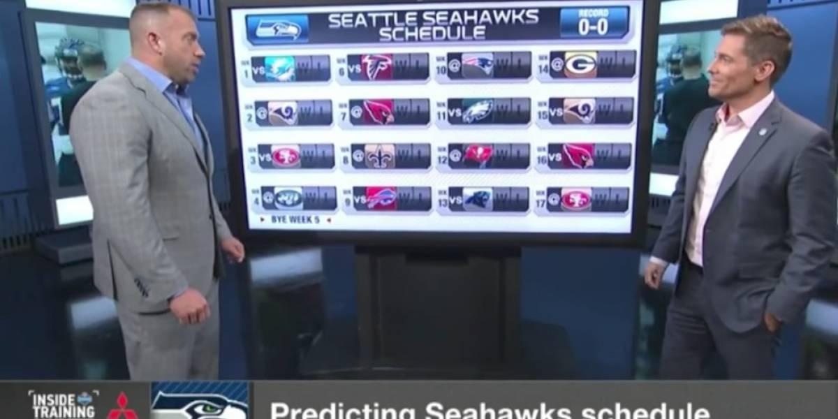 Canal NFL Network comete error con calendario de Halcones Marinos