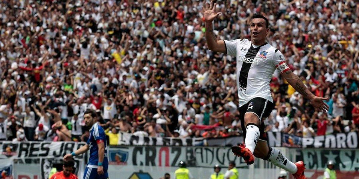 El goleador saludo de Colo Colo al cumpleañero Esteban Paredes