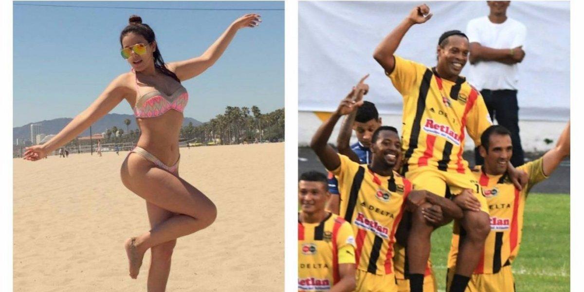 """Sexy periodista """"explota"""" tras visita de Ronaldinho a su país"""