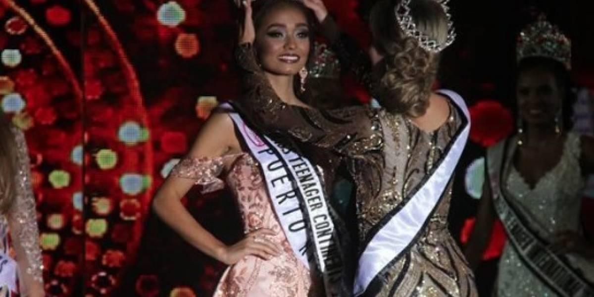Joven puertorriqueña se corona Miss Teenager Continents 2017