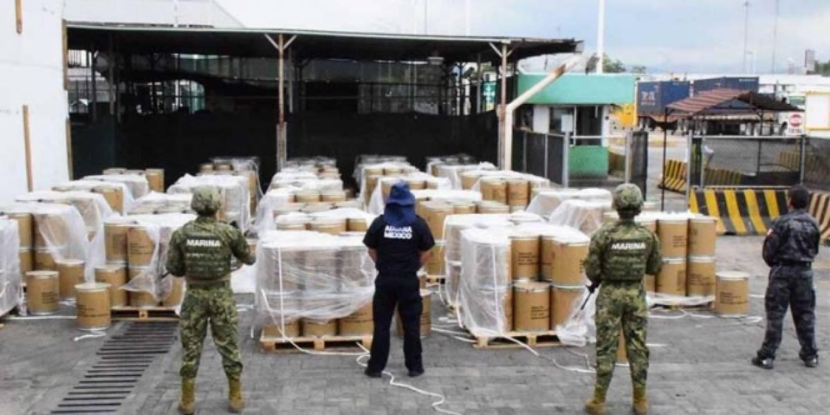 Aseguran marinos 18 mil kilogramos de psicotrópicos en Manzanillo