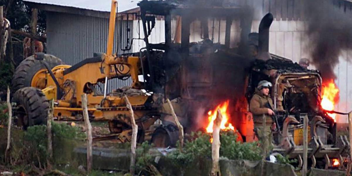 Segundo atentado incendiario en menos de 24 horas afecta al Biobío
