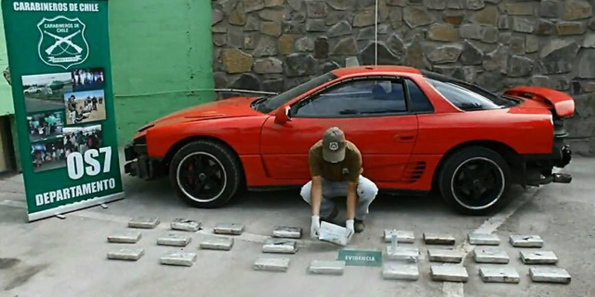 """""""Rápido y furioso"""": detienen a peruano por manejar bólido repleto de cocaína en Antofagasta"""