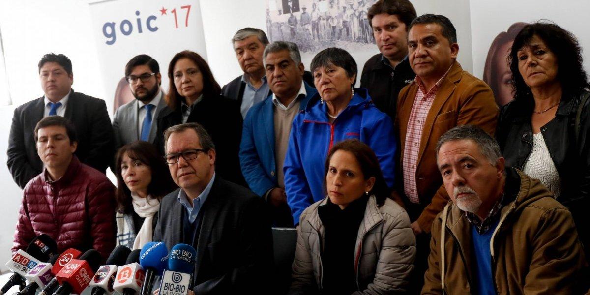 Alcaldes DC se cuadran con Goic y solicitan a Rincón que renuncie