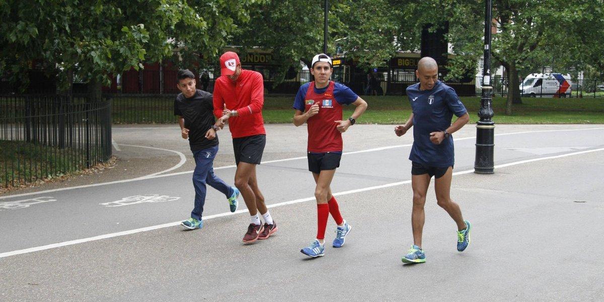 Los tres maratonistas guatemaltecos se alistan para una guerra contra más de cien en Londres 2017