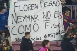 La afición catalana está dolida con Neymar