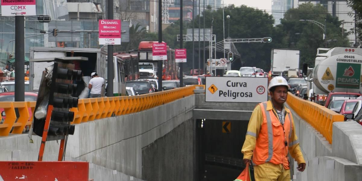10 de agosto estará listo doble túnel de Mixcoac: Tungüí