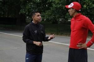 Maratonistas guatemaltecos