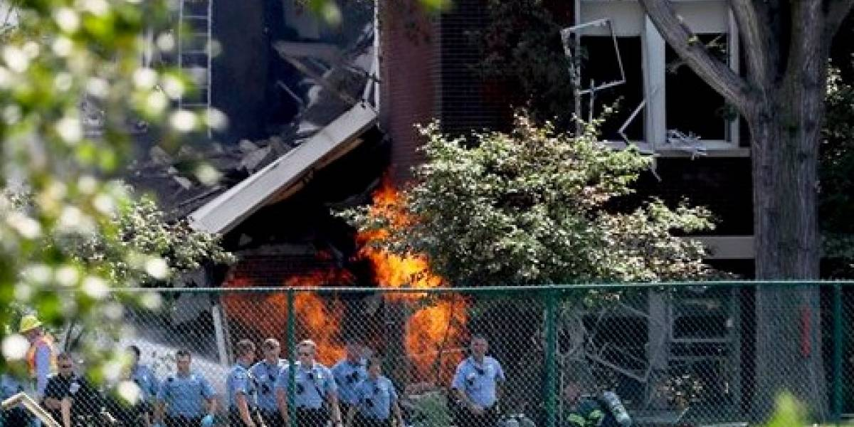 Explosión causa derrumbe en escuela elemental en Minneapolis