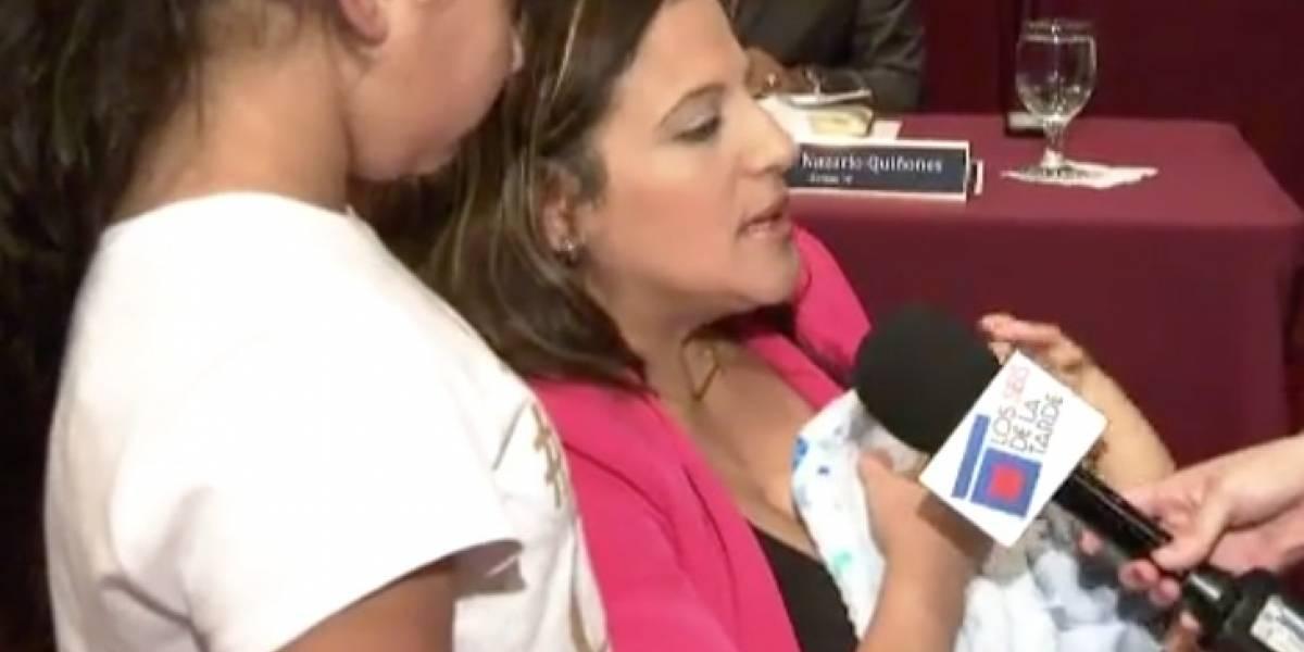 Senadora Itzamar Peña lacta a su bebé en pleno hemiciclo